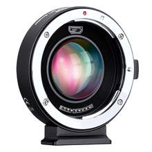 COMMLITE CM AEF MFT 부스터 0.71X 초점 감속기 부스터 AF 렌즈 마운트 어댑터, Canon EF 렌즈 용 Panasonic/Olympus M4/3 카메라