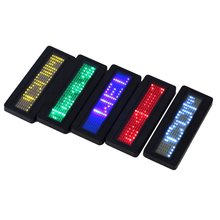 LED name badge sign Scrolling advertising/business card show display tag/programmer order Digital Display English Wholesale Tech