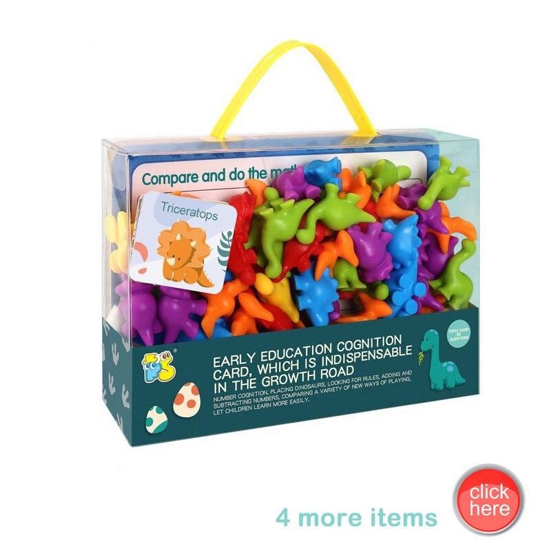 Детские когнитивные игрушки с подсчетом и сортировкой, раннее обучение, Монтессори, Обучающие модели животных, автомобили, животные, диноза...