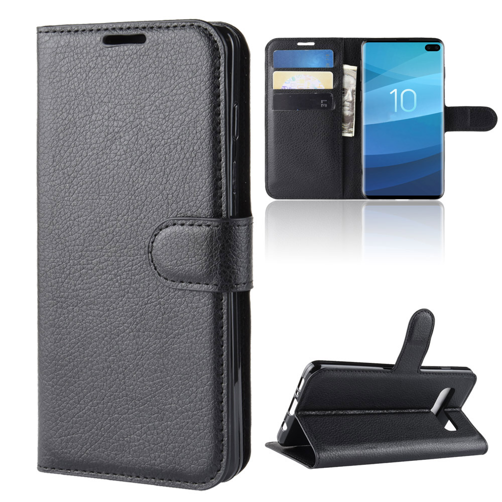 6.7Inch Case For Samsung Galaxy S10 (5G) SM-G977B Cover Wallet Card Stent Book Style Flip Leather Black SM G977 G977U S10-5G 977