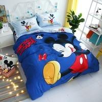 Disney Mickey Minnie Mouse Kids Cotton Bedding Set Cartoon Girls Duvet Cover Bedclothes Pillowcase Sheet Children Soft Bed Linen