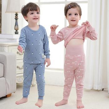 Bebé niños niñas ropa de dormir de los niños de primavera Homewear pijamas para bebé Pijamas 0-4Y niño cintura alta ropa conjuntos