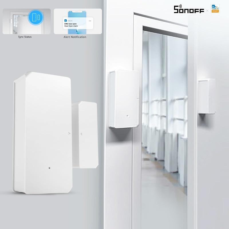 SONOFF Wi-Fi DW2 RF Smart Door Window Alarm Infrared Sensor Home Security US TT Smart Devices To Create Various Smart Scene