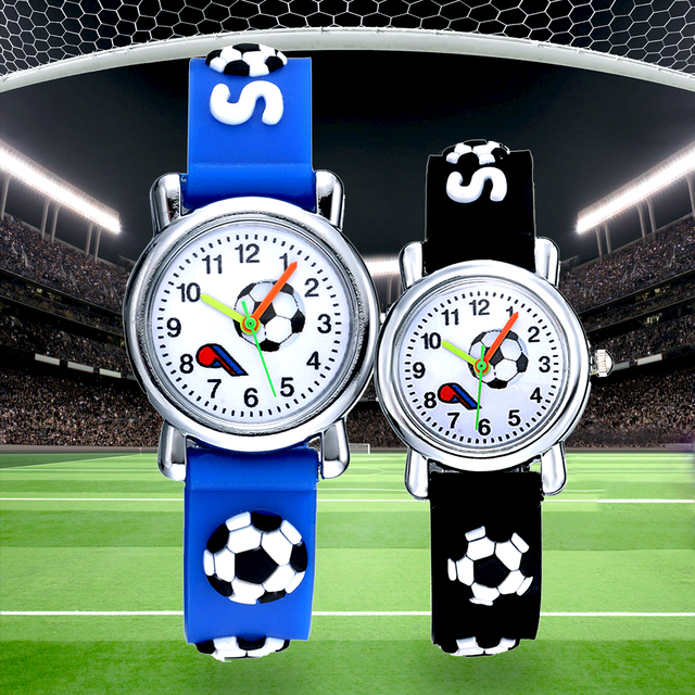 Силиконовые детские часы с футбольным мячом наручные уникальным