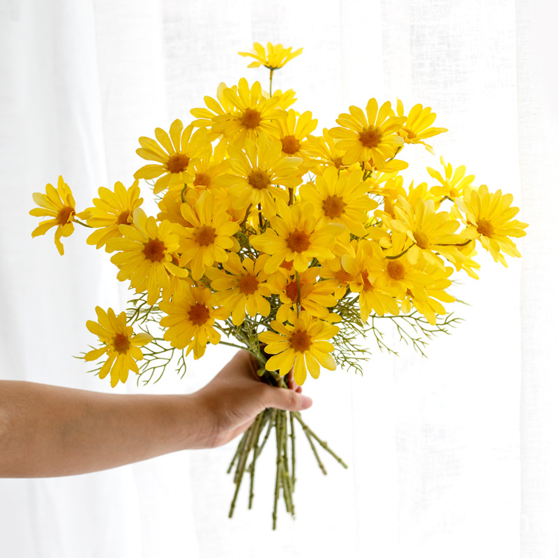 18Head Artificial Silk Simulation Fake Daisy Flower Chrysanthemum Wedding Bush##
