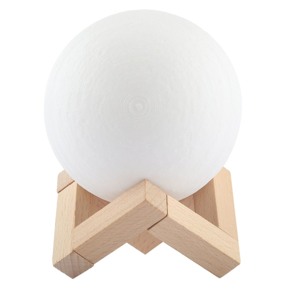 Usb Light Gadgets 7color Fashion Usb Lamp Gadgets Electronicos 3D Moon Lamp 240mAh 3D Printing Technology Light Dropshipping