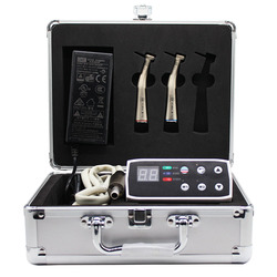 Стоматологическое оборудование электродвигатель светодиодный микродвигатель комплект 1:5 + 1:1 наконечник с угловым наконечником