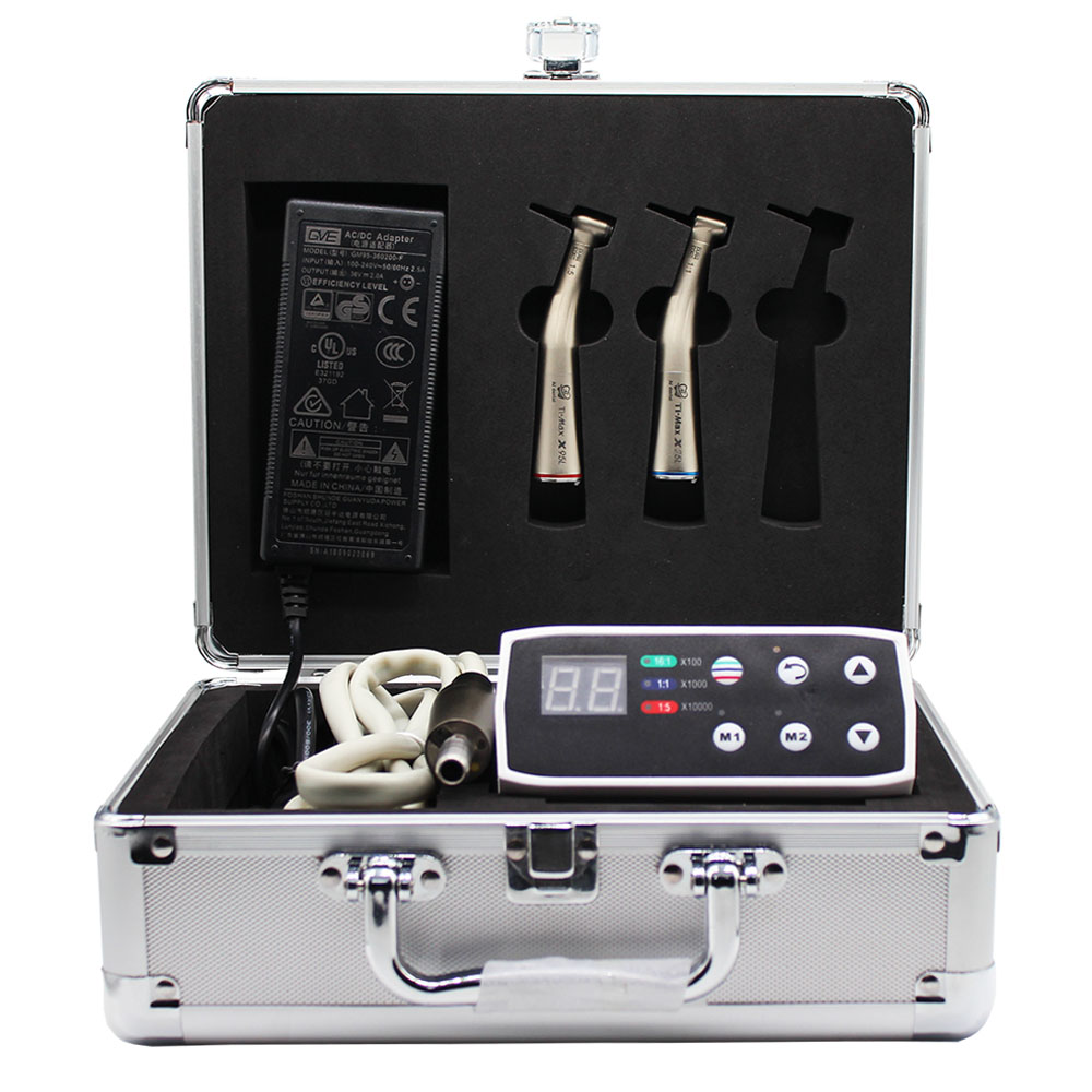 Dental  Equipment Electric Motor LED Micromotor Kit 1:5 +1:1 Contra Angle  Handpiece Connect  With Dental Chair Unit