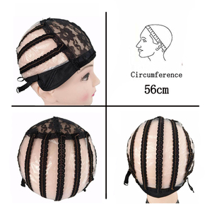 Image 3 - 10pcs/lot Weaving Net Wig Caps For Making Wigs Medium Size 22 inch Adjustable Lace Wig Cap Black Weaving Net Dome Cap