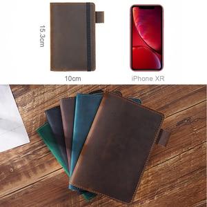 Image 2 - Feld Notizen Abdeckung Tägliche Tragen Memo Buch Echtem Leder Notebook Planer Karte halter Tasche Vintage Schreibwaren