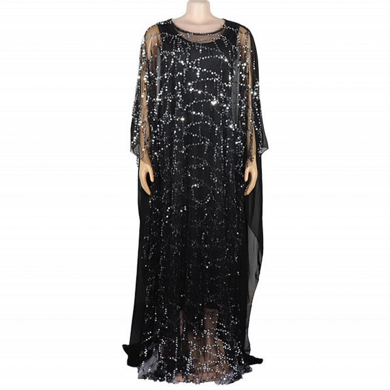 African Dress For Women 2019 Autumn African Clothes Fashion African Sequins Robe Loose Long Dashiki Traditional Dress Lady
