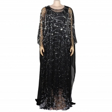 African-Dress Robe Dashiki Women for Sequins Loose Long Traditional Lady Autumn
