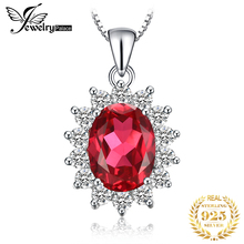Amazing Fashionable HOT SALE Christmas Gift  Pigeon Blood Red Ruby Princess Style Pendant 925 Sterling Silver Free Shipping
