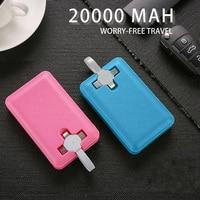 Power Bank 20000 Mah Ingebouwde Kabel Draagbare Powerbank Voor Iphone 11 Pro X 8 7 Externe Batterij voor Xiaomi Mi 9 Poverbank
