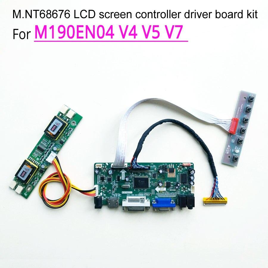 """LCD Controller Board Monitor Diy Kit for 19/"""" 1280X1024 M190EN04 V5 HDMI+DVI+VGA"""