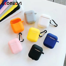 EKONEDA Candy Colors Plain Case For Airpods 1/2 Ultra Slim Soft Protective Cover For Airpods Case(China)