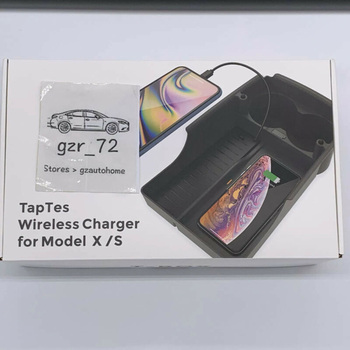 Fast Charging Wireless Charger For Tesla Model X S Car Auto Inner Armrest