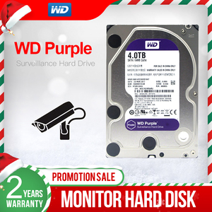 "Image 1 - WD mor 4TB 3.5 ""HDD gözetim sabit Disk sürücüsü 5400RPM sınıfı sata iii 6 gb/sn 64MB önbellek 3.5 inç WD40EJRX"