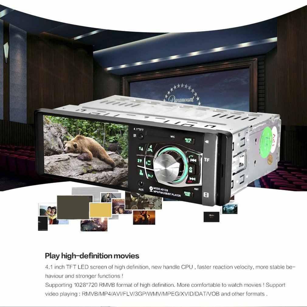4012B 4.1 Inch 1 DIN Phát Thanh Xe Hơi Tự Động Âm Thanh Stereo FM Bluetooth 2.0 MP5 Hỗ Trợ Nghe Camera Phía Sau Tay Lái bánh Xe Điều Khiển