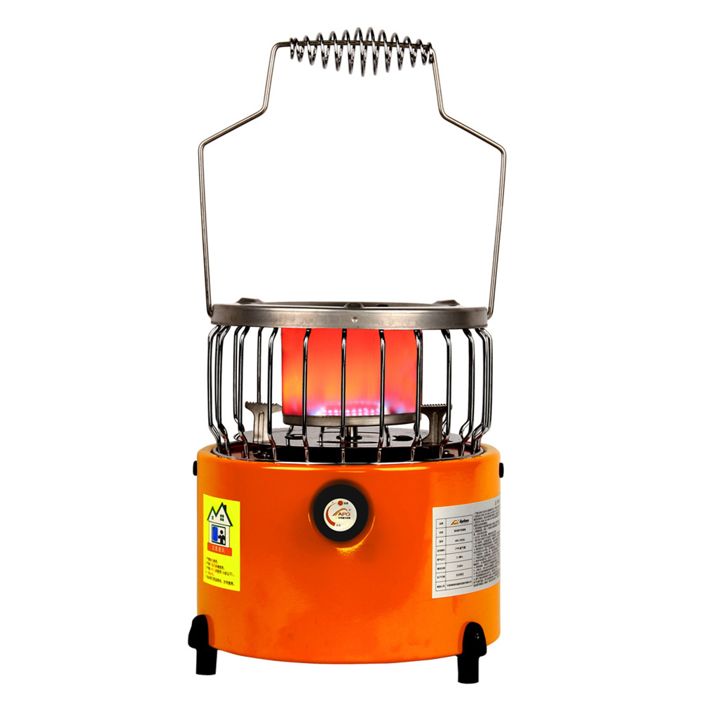 2 In 1 2000W Portable Heater Camping Stove Heating Cooker For Cooking Backpacking Ice Fishing Camping Hiking image