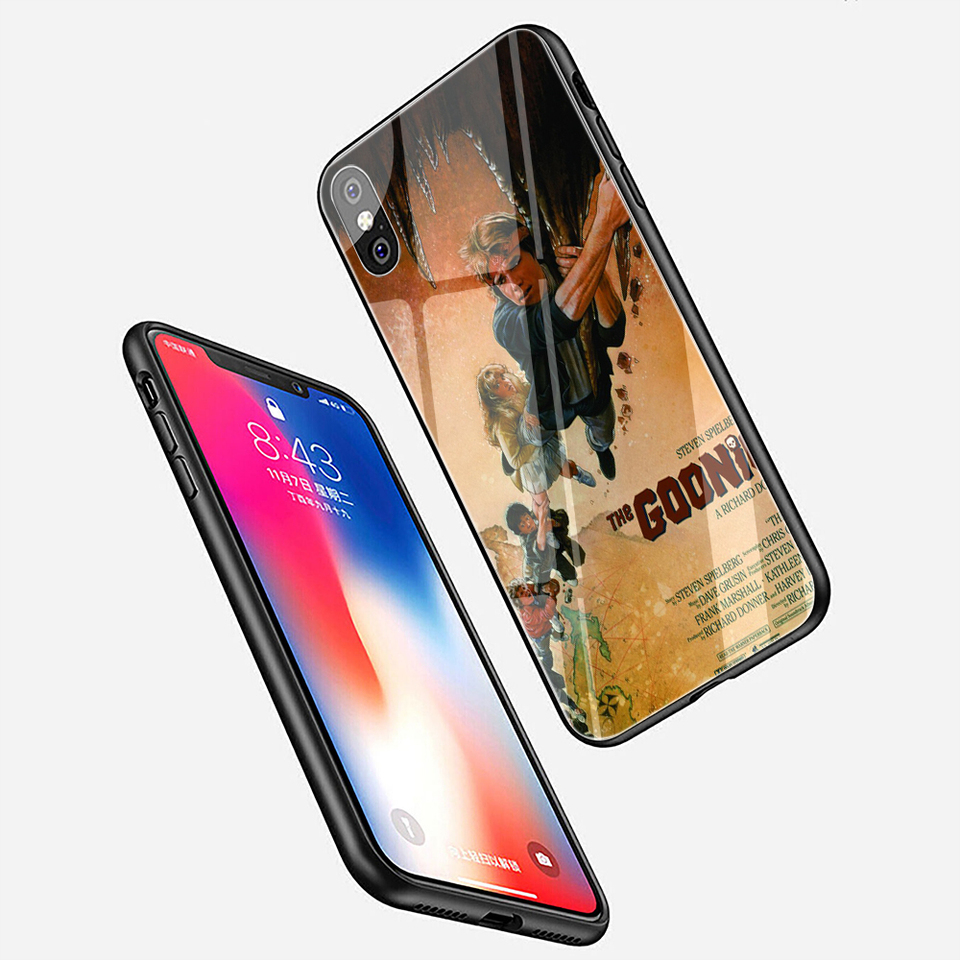 Ewau Goonies Posters Tempered Glass Phone Case For Iphone Se 2020 5 5s Se 6 6s 7 8 Plus X Xr Xs 11 Pro Max Phone Case Covers Aliexpress