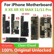 Unlocked for iPhone 11 X XS XR XS MAX 11 Pro Motherboard Without Face ID Clean  for iphone 5S Logic board Mainboard