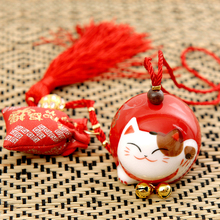 Lucky Cat Car Hanging Backpack Pendant Christmas Creative Charm Birthday Gift