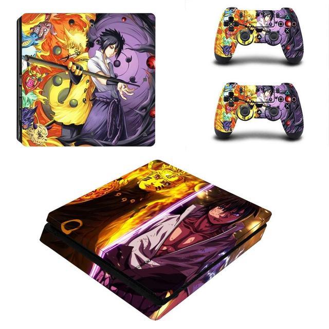 Naruto do Boruto pełna pokrywa płyty czołowe naklejka na kontroler do PS4 naklejka naklejka Vinyl na konsolę Playstation 4 i kontroler naklejka PS4 Slim