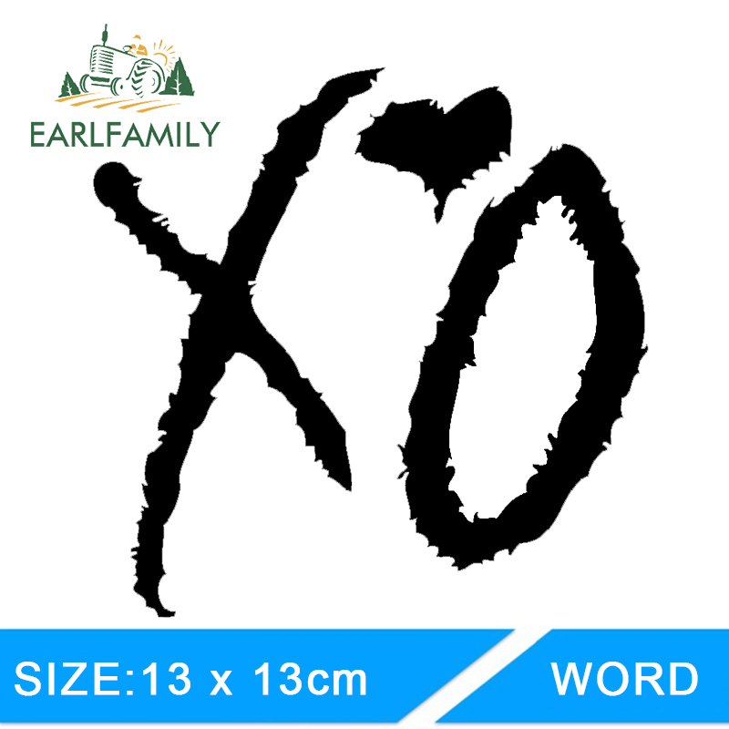 EARLFAMILY 13cm X 13cm Xo The Weeknd Drake Lil Wayne Hip Hop Rnb Usa Funny Car Stickers Decal JDM Car Accessories