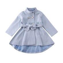 Плащ для девочек; элегантная верхняя одежда для маленьких девочек; длинное платье; ветровка; куртка; пальто; сезон осень-зима; размеры для детей 1-5 лет