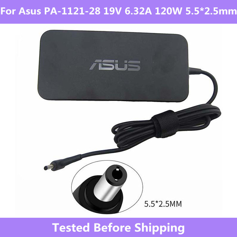 For <font><b>Asus</b></font> Adapter PA-1121-28 <font><b>19V</b></font> <font><b>6.32A</b></font> <font><b>120W</b></font> 5.5*2.5mm Original AC Adapter Support For <font><b>Asus</b></font> A15-120P1A GL551 GL552 G51JX-A1 ZX53 image