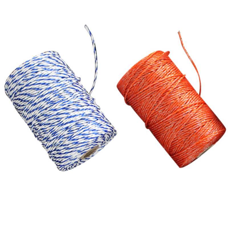 200 Meters Electric Fence Poly Wire 2mm Polywire with Steel Wire Poly Rope For Horse Fencing Ultra Low Resistance Hot Wire