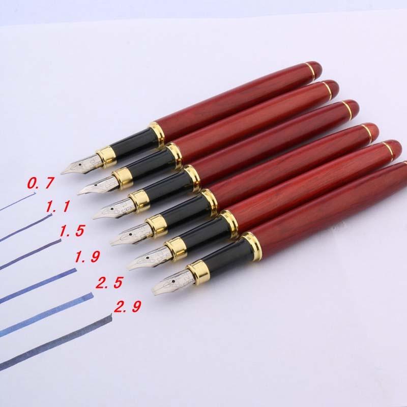 Gift Bold Duckbill Gothic Flower Body Art Flat Tip Red Wood Golden Art Parallel Fountain Pen