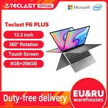 Teclast mais novo laptops f6 plus 13.3 polegada notebook gemini lago 8gb lpddr4 256gb ssd windows 10 portátil 360 ° rotação toque tablet