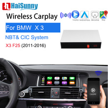 Wireless Apple Carplay For BMW CIC NBT X3 F25 2011-2016 Support  Multimedia Player IOS Android Auto Google Maps Reverse camera