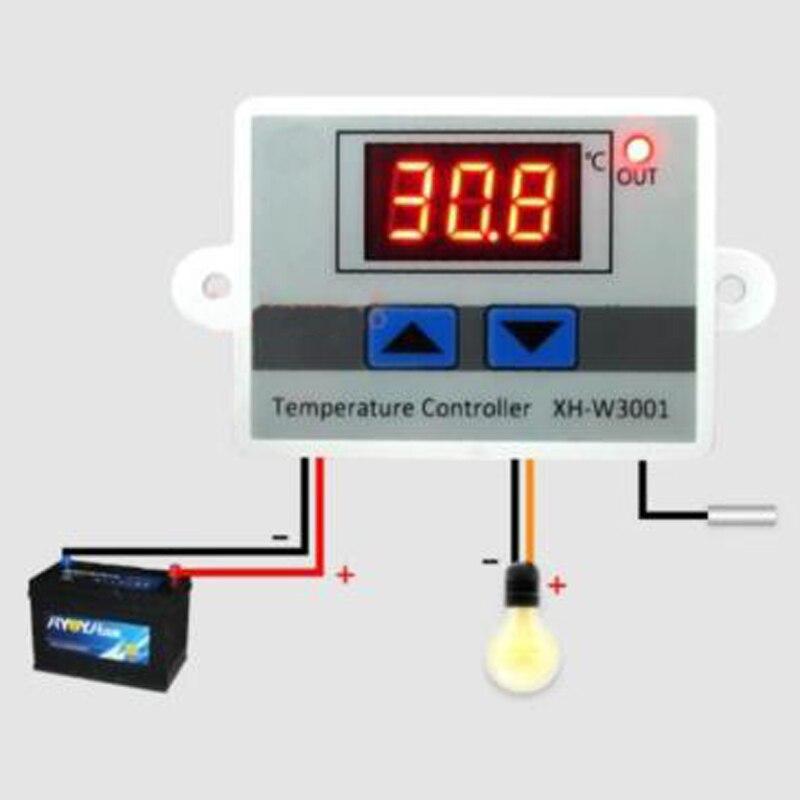 1 шт. ABS 12 В 220 В цифровой светодиодный регулятор температуры 10A переключатель управления термостатом зонд прозрачный ЖК дисплей часть инструмента| |   | АлиЭкспресс