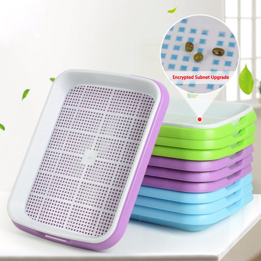 Seedling tray Plastic Double-Layer Seedling Sprouter Nursery Tray Hydroponics Basket Flower Plant Germination Tray Box