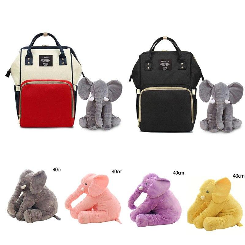 Large Capacity Diaper Bag Waterproof Diaper Bag Solid Baby Diaper Bag Backpack For Baby Care Maternity Bags Baby Mummy