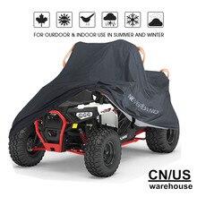 Универсальный Водонепроницаемый Чехол для квадроцикла ATV, 190 T, для мотоцикла, скутера, мотоцикла, Kart, мотоциклетные Чехлы M, L, XL, XXL, XXXL, камуфляжный черный
