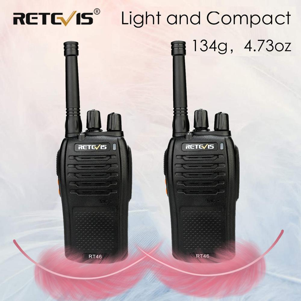 Une paire de talkie-walkie RT46 PMR Radio PMR446/FRS Portable Radio bidirectionnelle VOX Micro-USB charge Li-ion (ou AA) batterie