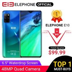 ELEPHONE E10 Octa Core Смартфон 4GB 64GB 6.5 Экран Quad Camera 48MP Основная камера телефон Android 10 NFC Боковой отпечаток пальца мобильного телефона