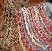 1 метр Цветочная вышивка кружевная отделка ленты ткань отделка DIY Швейные материалы ручной работы для поделок аксессуары для одежды украшен...