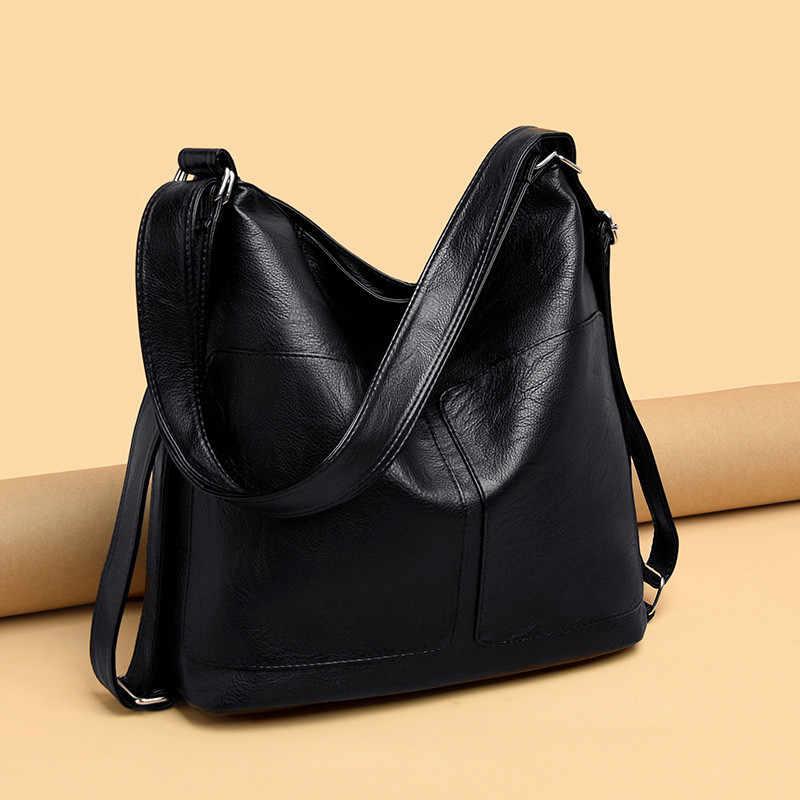 גדול קיבולת נשים Hobos תיק 2019 משולב Vintage נקבה Messenger תיק מעצב כתף תיק למעלה-ידית שקיות Sac עיקרי