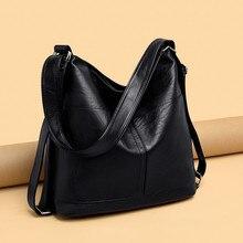 Large Capacity Women Hobos Bag 2019 Multifunction Vintage Female Messenger Bag Designer Shoulder Bag Top handle Bags Sac A Main