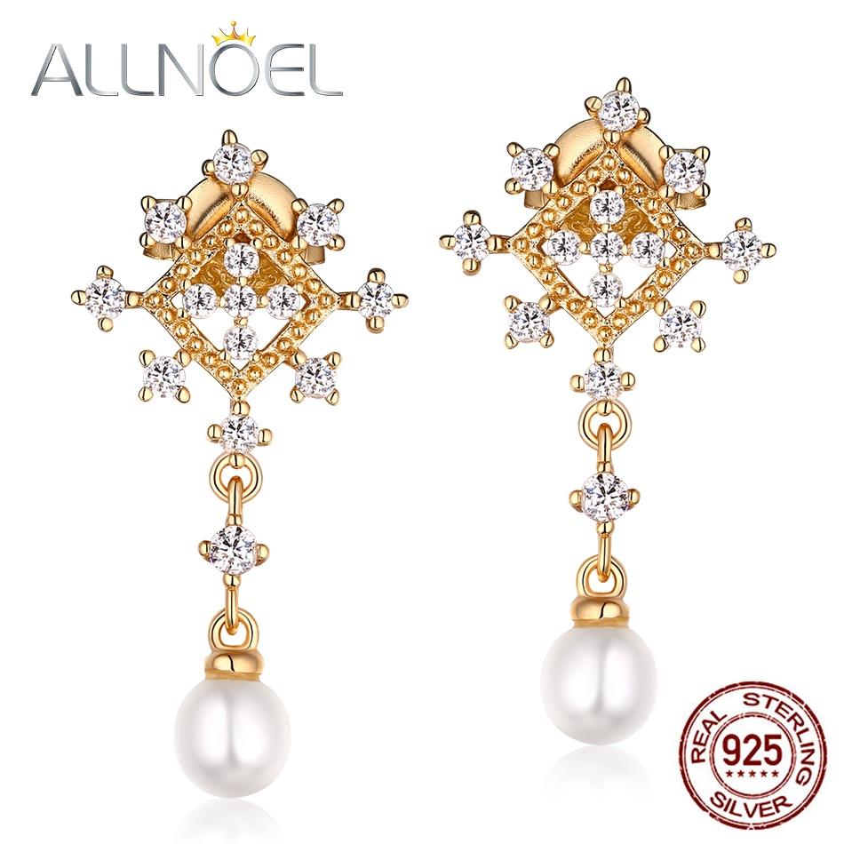 Cultured Pearl et Quartz Rose 925 Sterling Silver Dangle Boucles d/'oreilles