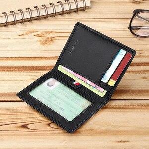 Image 5 - WILLIAMPOLO portfele męskie ze skóry naturalnej przednia kieszeń torebka wąskie etui na karty kredytowe Cowskin New Design