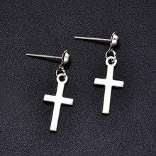 Boucles d'oreilles croix Punk pour femmes, pendentif croix, Cartilage goutte, bijoux Aretes De Mujer Modernos 2020