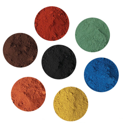 Iron oxide pigment cement tinting red yellow black green blue pastel tile paint color pigment DIY Manually Paving Concrete molds image