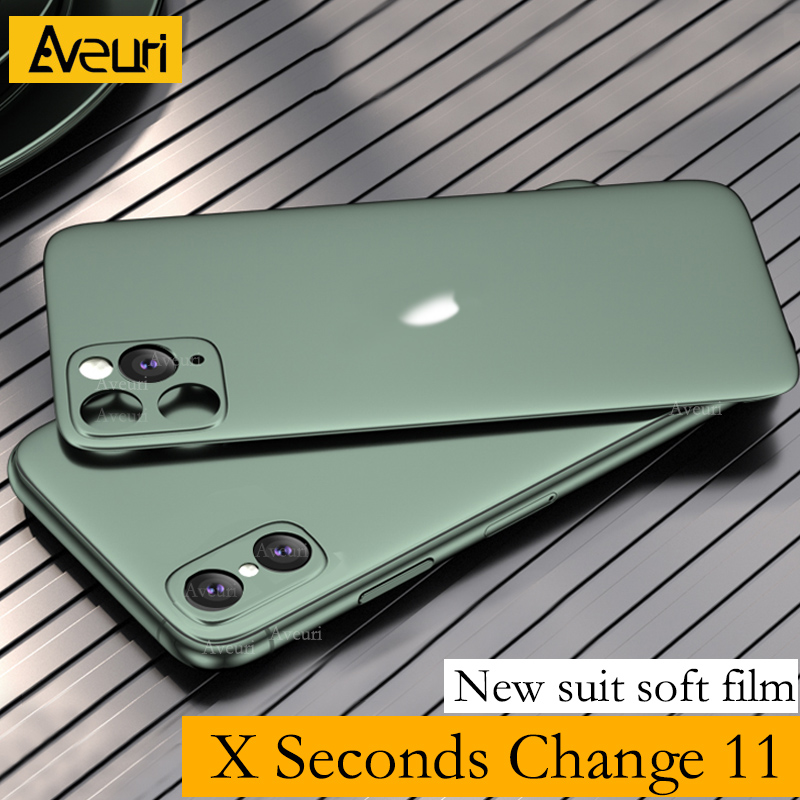 New Luxury Silicone Soft Film Camera Lens Seconds Change For IPhone X XS MAX To For IPhone 11 Pro Max Cover Sticker Fake Camera