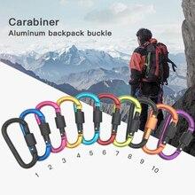 Buckle Carabiner Hook Clip Climb Outdoor-Climbing Keychain Backpack D-Shape Survial Aluminium-Alloy